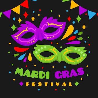 Flaches design karneval-konzept