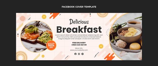 Flaches design leckeres frühstück facebook-cover