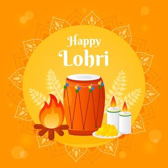 Flaches design lohri festival