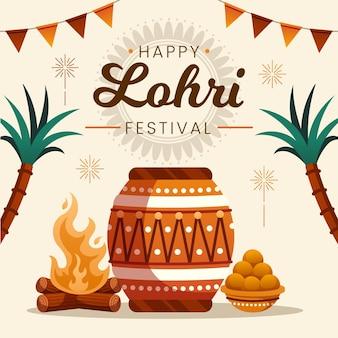 Flaches design lohri