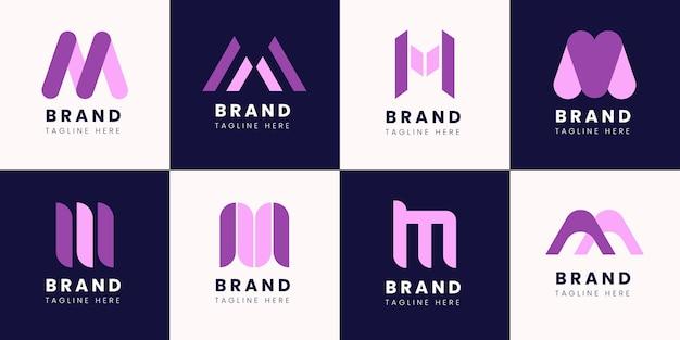 Flaches design m logo-sammlung
