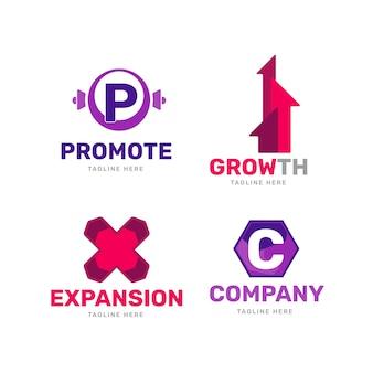 Flaches design-marketing-logo-sammlung