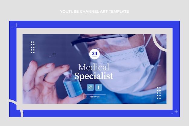 Flaches design medizinischer youtube-kanal-kunst