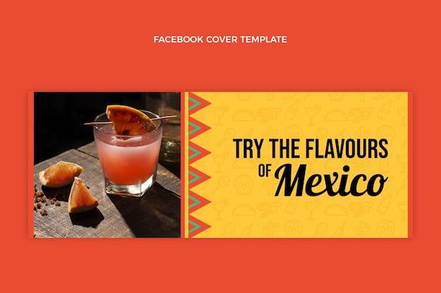 Flaches design mexiko trinkt facebook-cover