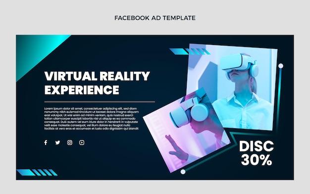 Flaches design minimale technologie facebook-werbung