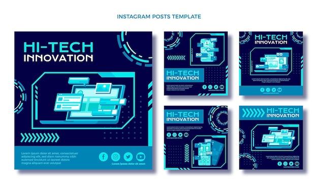 Flaches design minimale technologie ig post