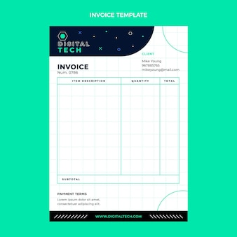 Flaches design minimale technologie