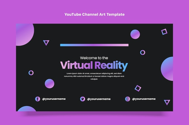 Flaches design mit minimaler technologie youtube-kanalkunst