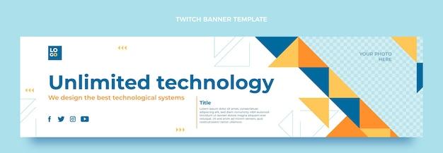 Flaches design mit minimaler technologie zuckendes banner