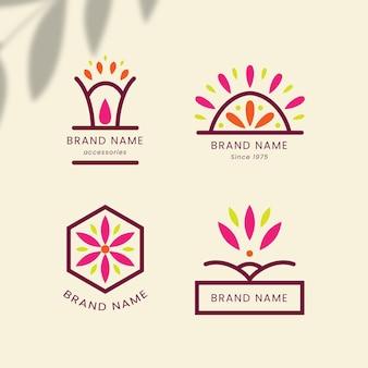 Flaches design modeaccessoires logo pack