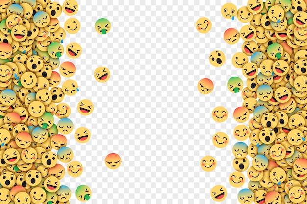 Flaches design moderne facebook emoticons