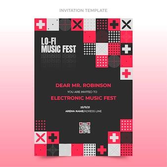 Flaches design-mosaik-musikfestival-einladung