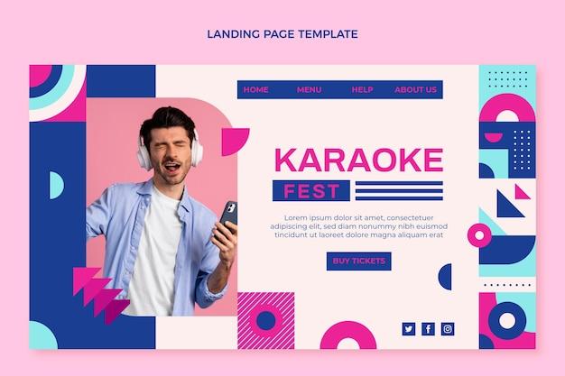 Flaches design-mosaik-musikfestival-landingpage