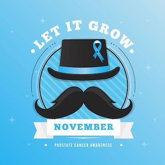 Flaches design movember konzept