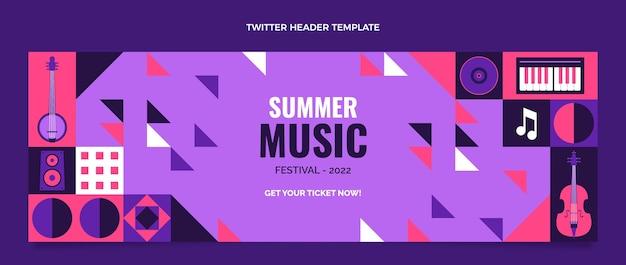 Flaches design musikfestival twitter-header
