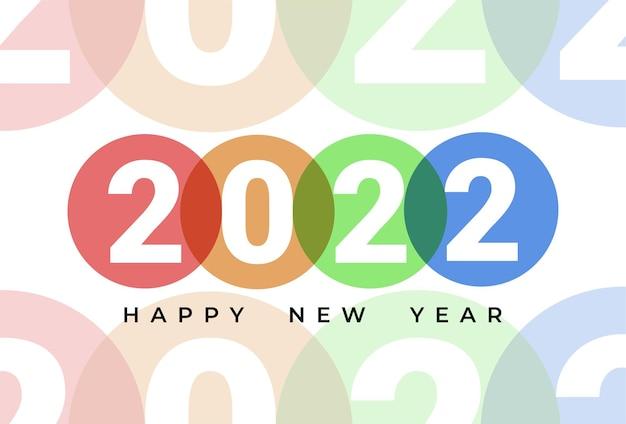 Flaches design neues jahr 2021