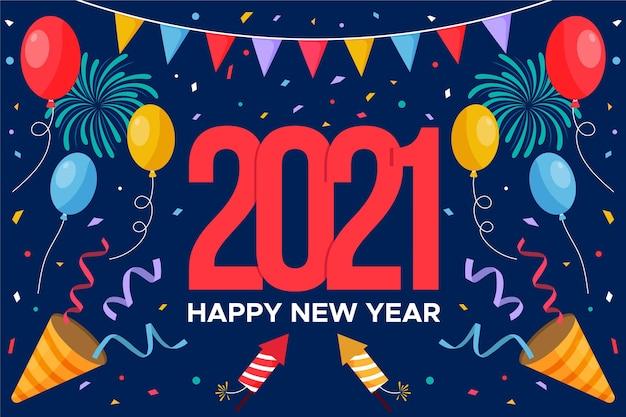 Flaches design neujahr 2021