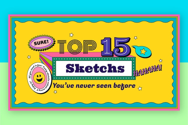 Flaches design, nostalgisches 90er-youtube-thumbnail