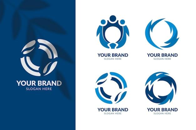 Flaches design o logo-vorlagen-sammlung