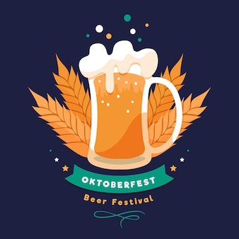 Flaches design oktoberfest feier
