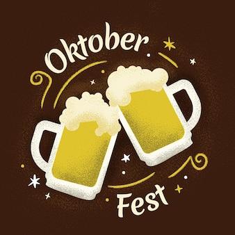 Flaches design oktoberfest-konzept
