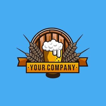 Flaches design oktoberfest logo vorlage