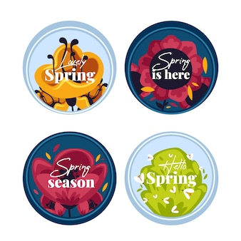 Flaches design pack spring label