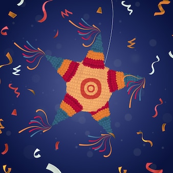 Flaches design posada pinata illustriert