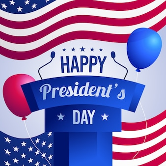Flaches design presidents day event design