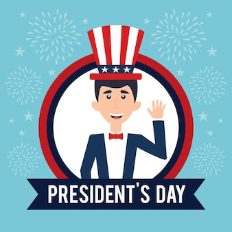 Flaches design presidents day event-thema