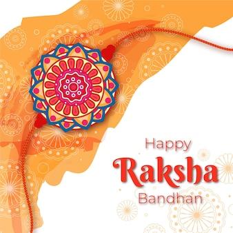 Flaches design raksha bandhan