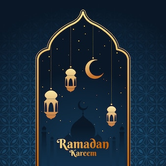 Flaches design ramadan thema