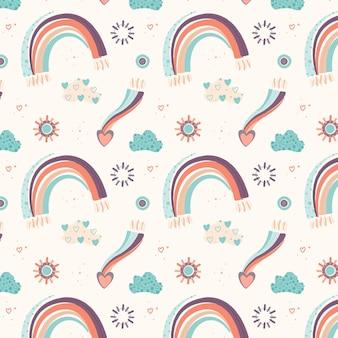 Flaches design regenbogenmuster