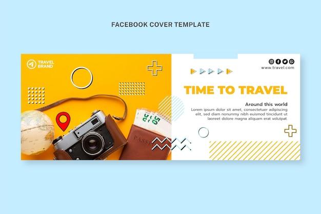 Flaches design reise-facebook-cover