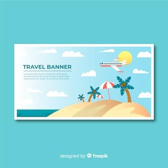 Flaches design reisen banner vorlage