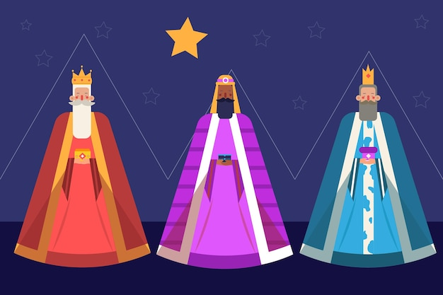 Flaches design reyes magos tag