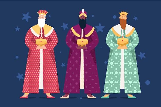 Flaches design reyes magos
