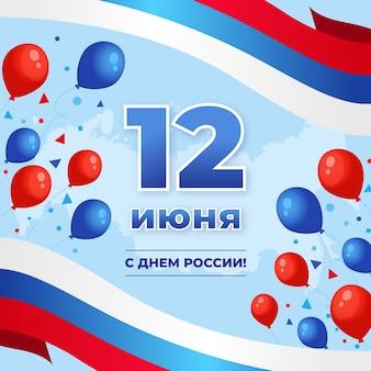 Flaches design russland tageskonzept