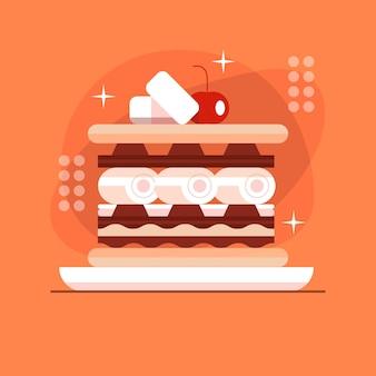 Flaches design s'mores dessert illustriert