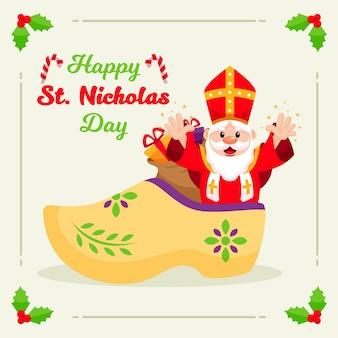 Flaches design saint nicholas day konzept