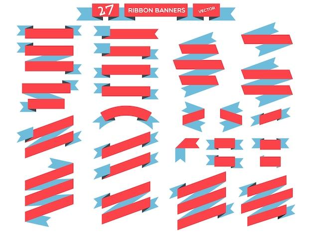 Flaches design-set der bandfahne