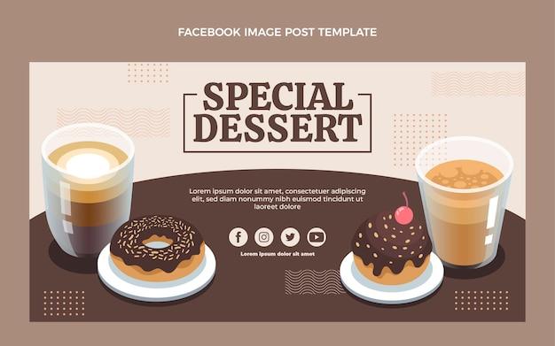 Flaches design spezieller dessert-facebook-post