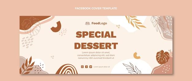 Flaches design, spezielles dessert-facebook-cover