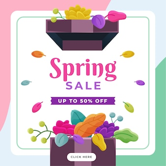Flaches design spring deal banner