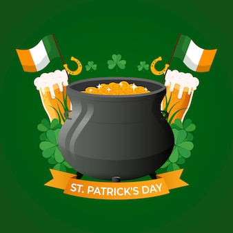 Flaches design st. patrick's day event