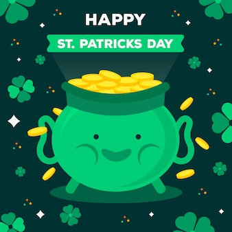 Flaches design st. patricks tag