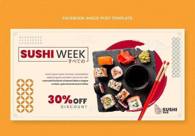 Flaches design sushi woche facebook-post