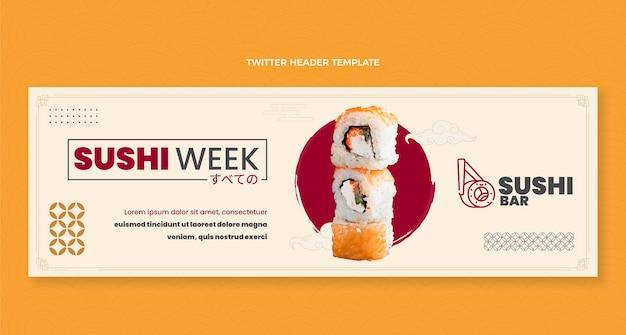 Flaches design sushi woche twitter-header