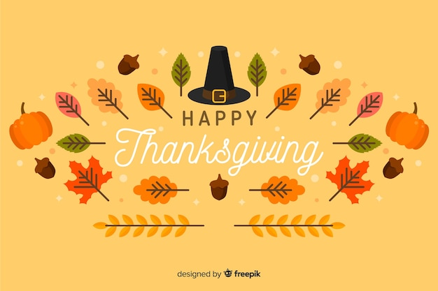 Flaches design thanksgiving hintergrund