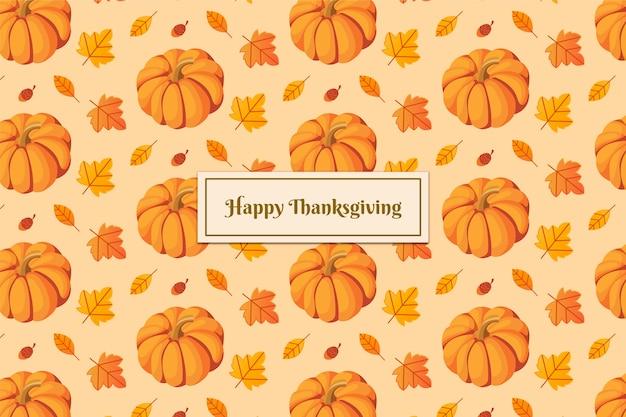 Flaches design thanksgiving hintergrund